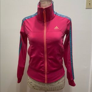 Girls youth large 11-12 yrs Adidas zip up sweater